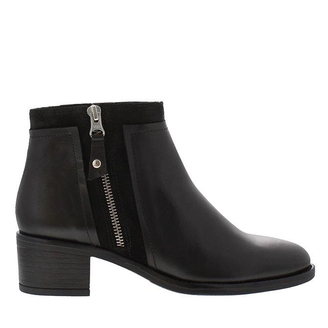 Carl Scarpa Alonna Black Leather Ankle Boots