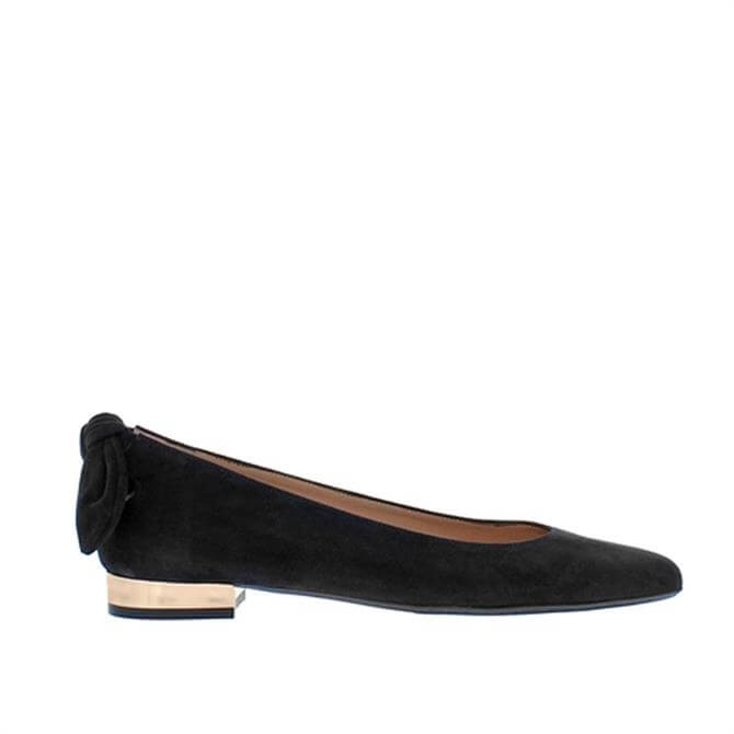Carl Scarpa House Collection Amy Black Suede Ballet Flats