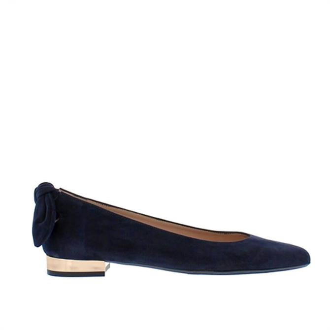 Carl Scarpa House Collection Amy Navy Suede Ballet Flats