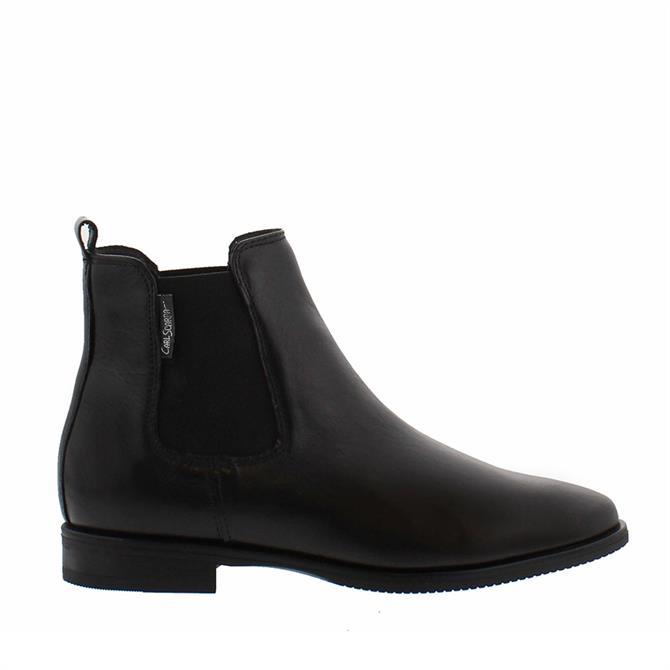 Carl Scarpa Anva Black Ankle Boots