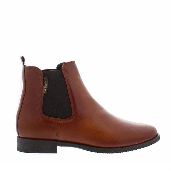 Carl Scarpa Anva Tan Ankle Boots