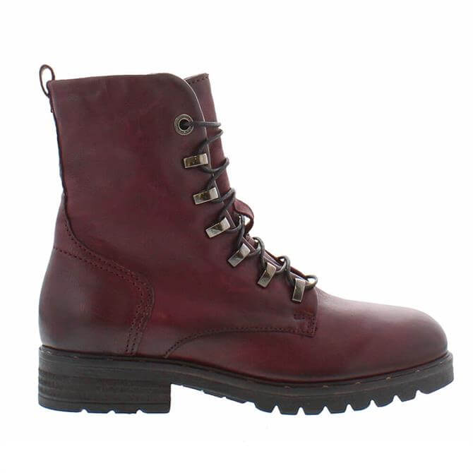 Carl Scarpa Astra Burgundy Ankle Boots