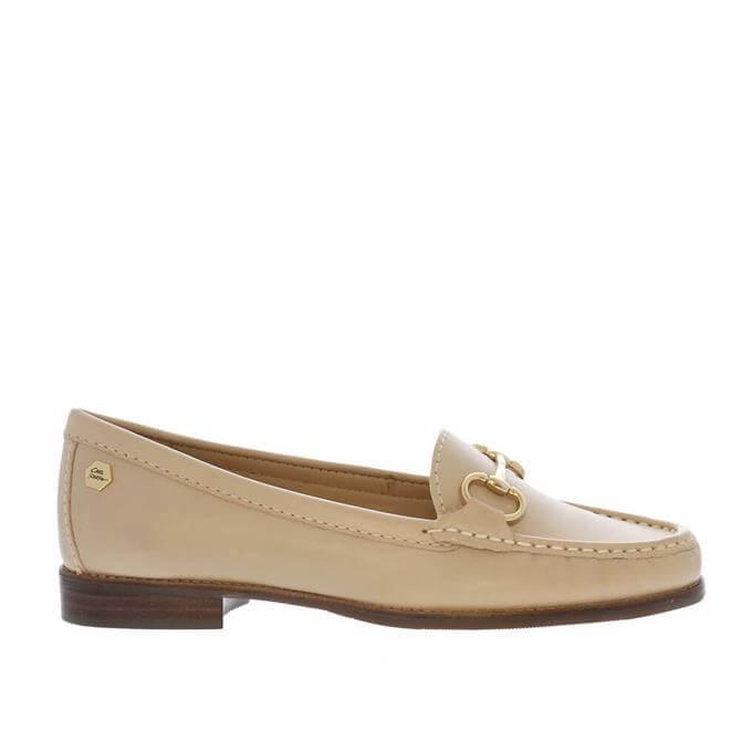 Carl Scarpa Aubree Beige Leather Loafers