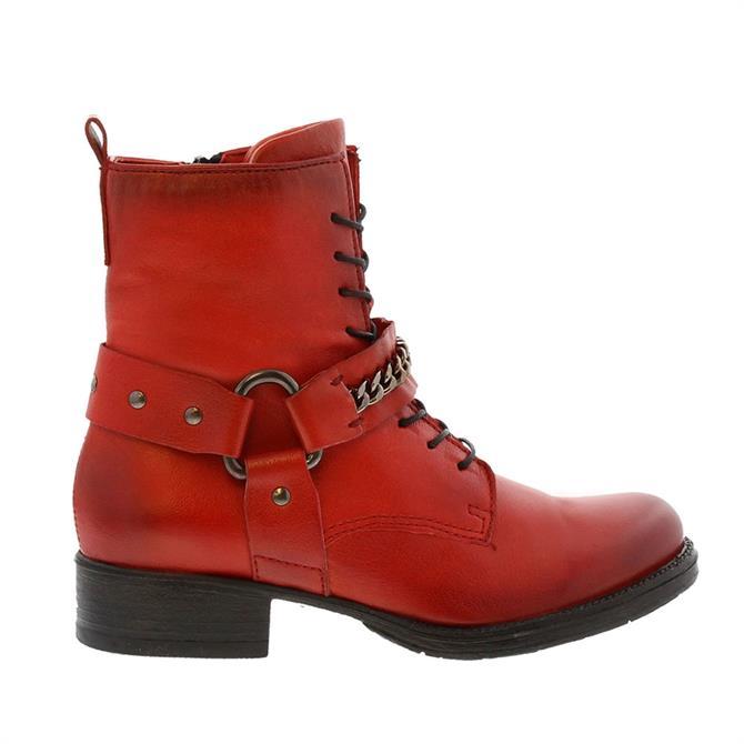 Carl Scarpa Azalea Red Ankle Boots