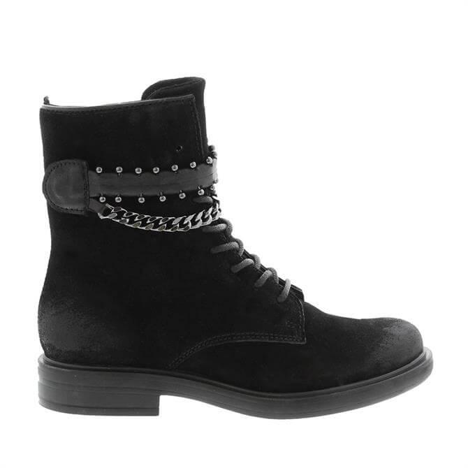 Carl Scarpa Azora Black Suede Ankle Boots