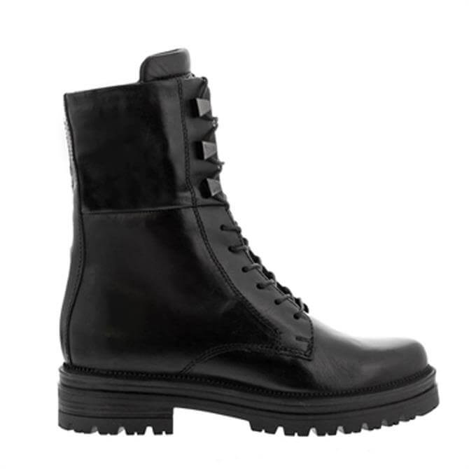 Carl Scarpa Beatrice Lace-Up Black Leather Boots