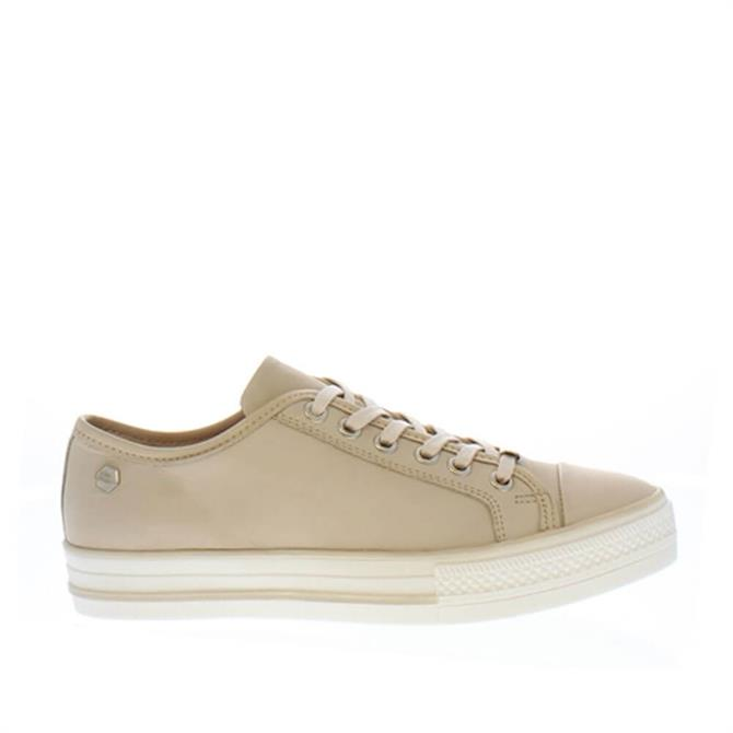 Carl Scarpa Coraline Beige Leather Trainers