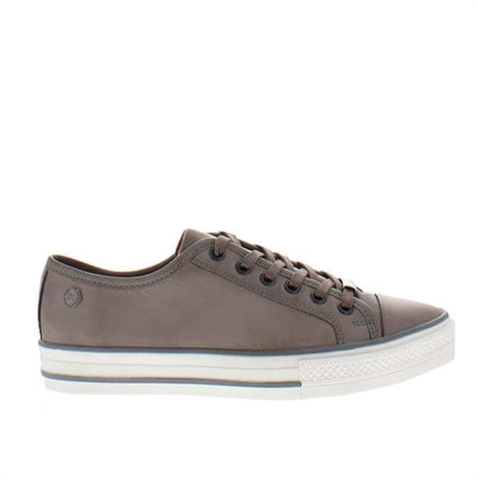 Carl Scarpa Coraline Grey Leather Trainers