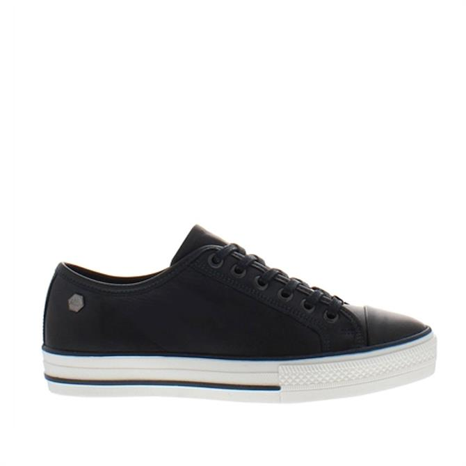 Carl Scarpa Coraline Navy Leather Trainers