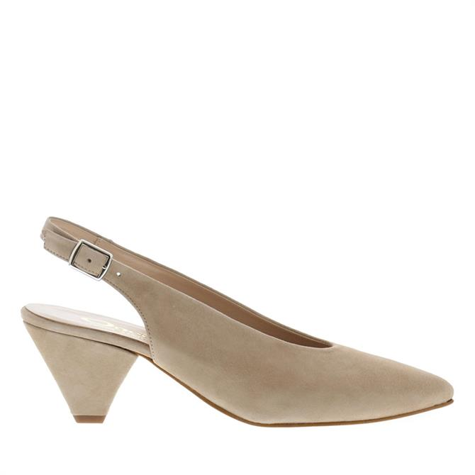 Carl Scarpa Dolce Beige Suede Slingback Court Shoes