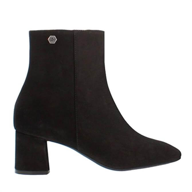 Carl Scarpa Elaine Black Suede Ankle Boots