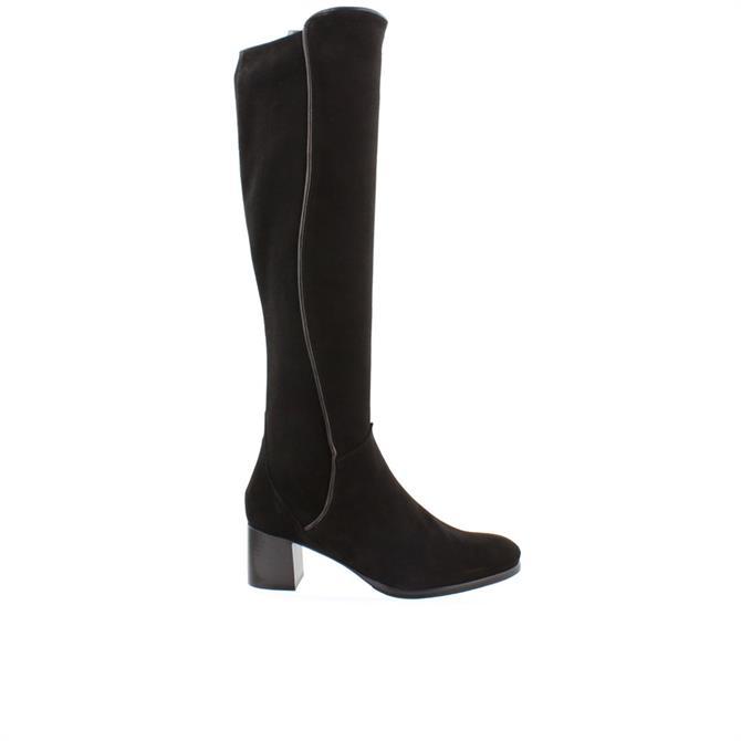 Carl Scarpa House Collection Ella Black Suede Long Boots