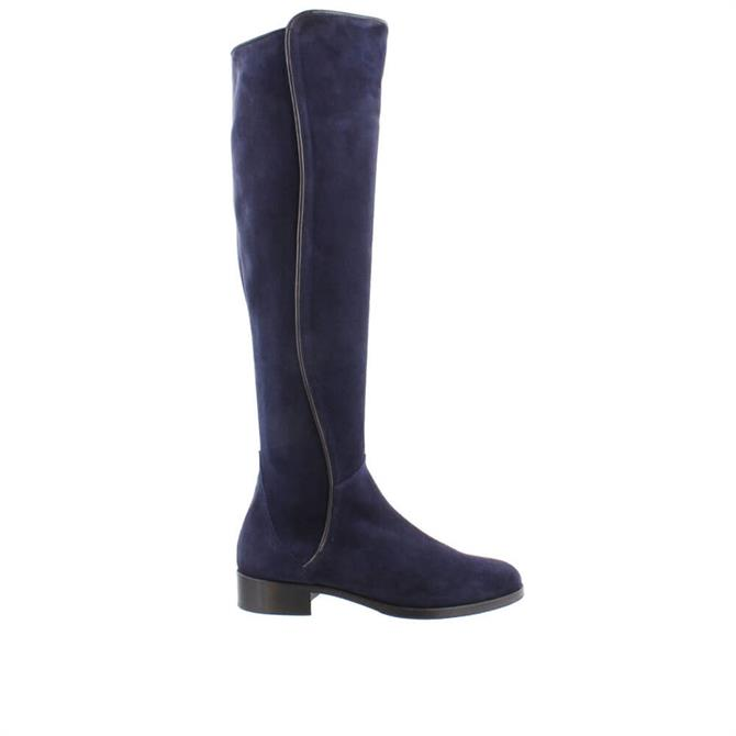 Carl Scarpa House Collection Emma Knee High Navy Suede Boots