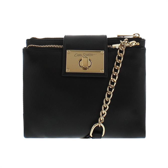 Carl Scarpa Fabiola Black Leather Crossbody Bag