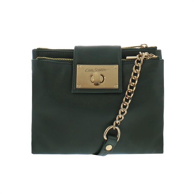 Carl Scarpa Fabiola Green Leather Crossbody Bag