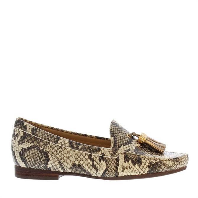 Carl Scarpa Fallon Snake Print Loafers
