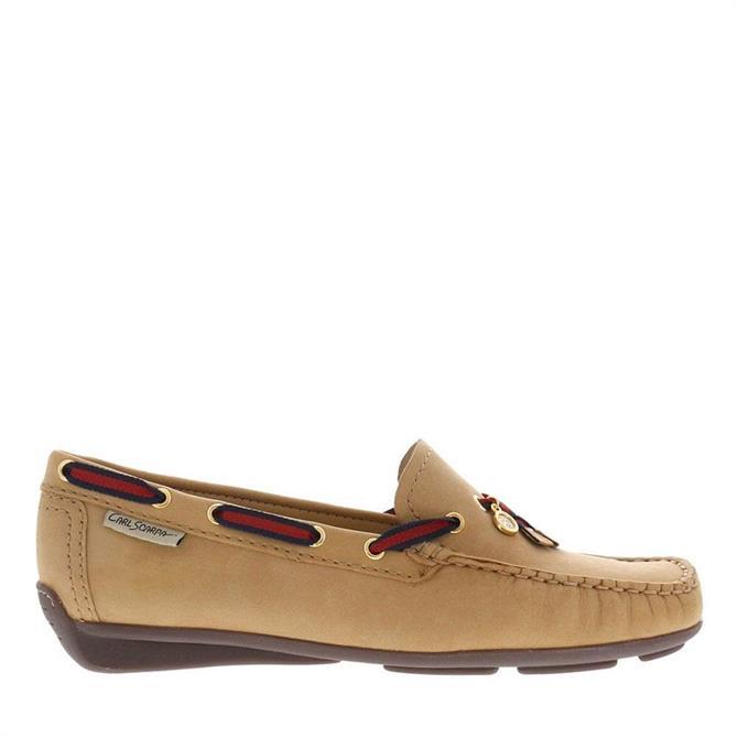 Carl Scarpa Faris Beige Slip-On Loafers
