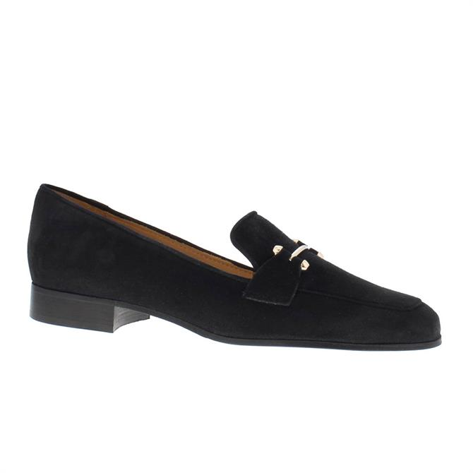 Carl Scarpa House Collection Felicity Black Suede Loafers