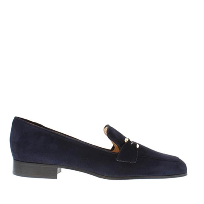Carl Scarpa House Collection Felicity Navy Suede Loafers
