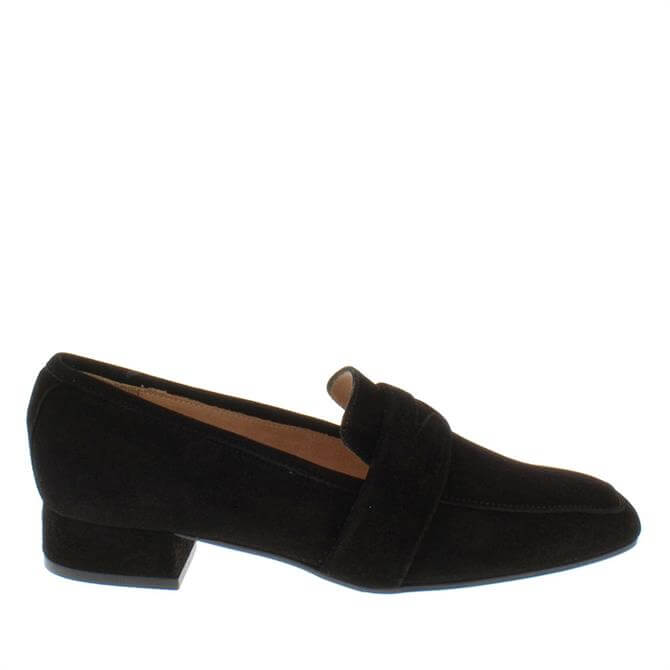Carl Scarpa House Collection Ginevra Black Suede Loafers