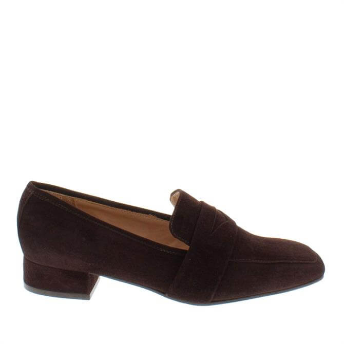 Carl Scarpa House Collection Ginevra Brown Suede Loafers