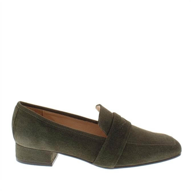 Carl Scarpa House Collection Ginevra Olive Suede Loafers
