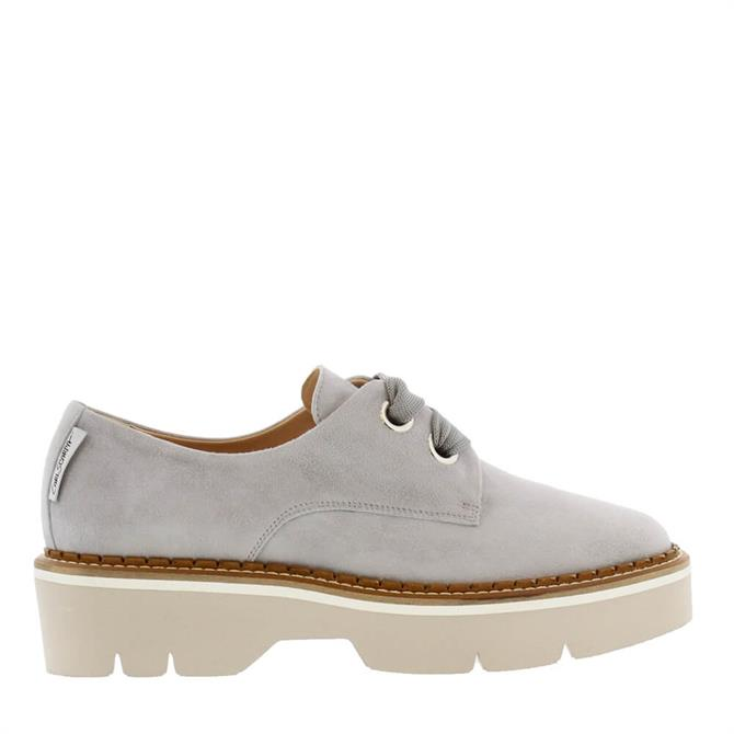 Carl Scarpa Nevada Grey Leather Lace Up Shoes