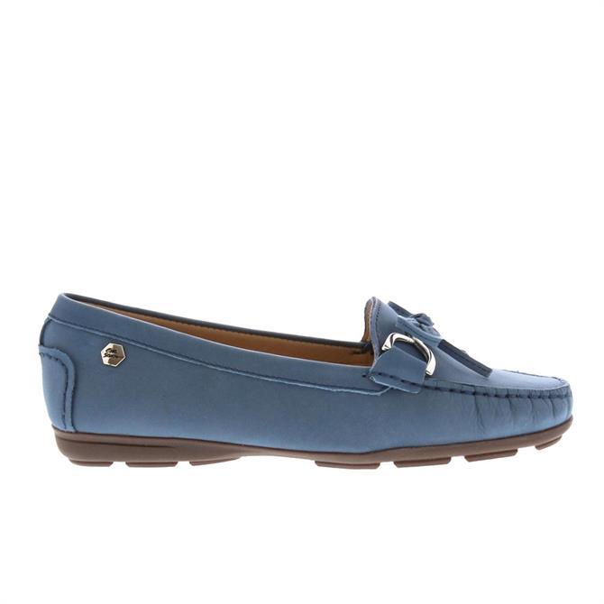 Carl Scarpa Harper Blue Suede Loafers