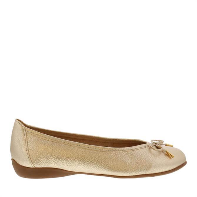 Carl Scarpa Hosanna Gold Ballet Flats