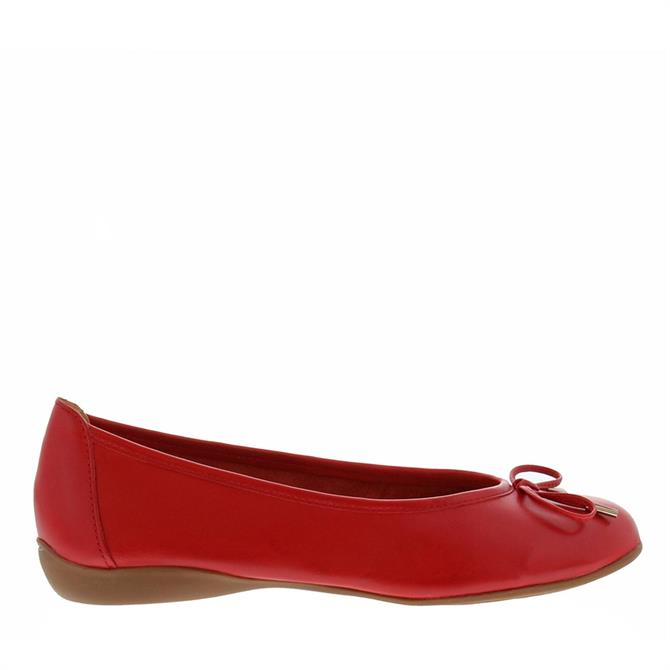 Carl Scarpa Hosanna Red Ballet Flats