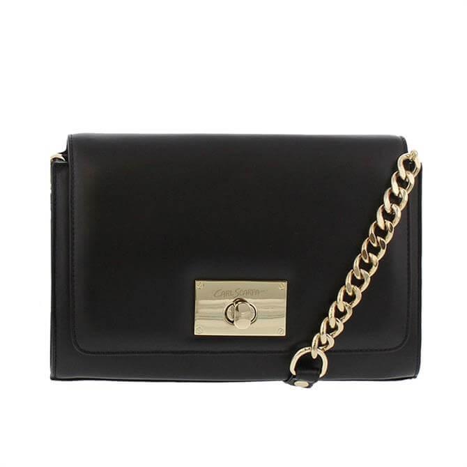 Carl Scarpa House Collection Fusana Black Leather Handbag