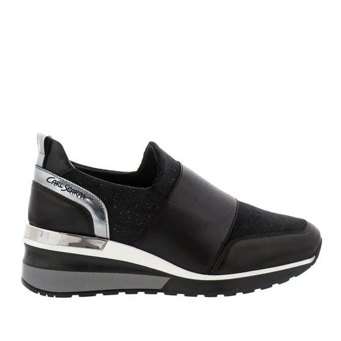 Carl Scarpa House Collection Neralina Black Wedge Heel Trainers