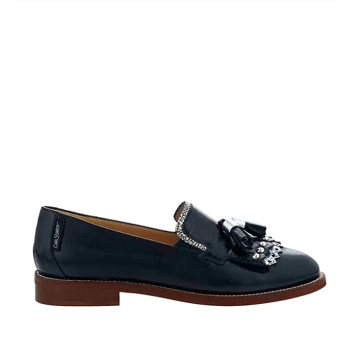 Carl Scarpa  Layla Navy Patent Leather Loafers
