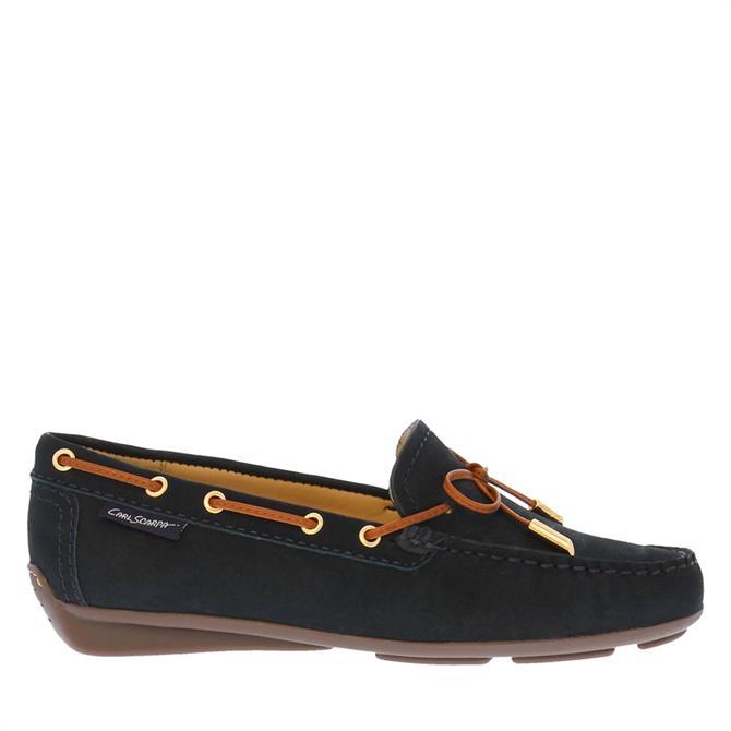 Carl Scarpa Misha Navy Leather Loafers