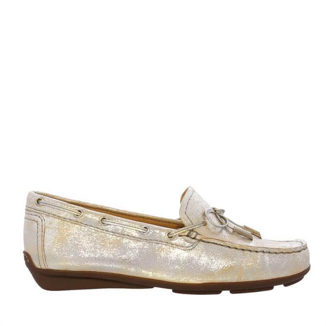 Carl Scarpa Misha Silver Leather Loafers