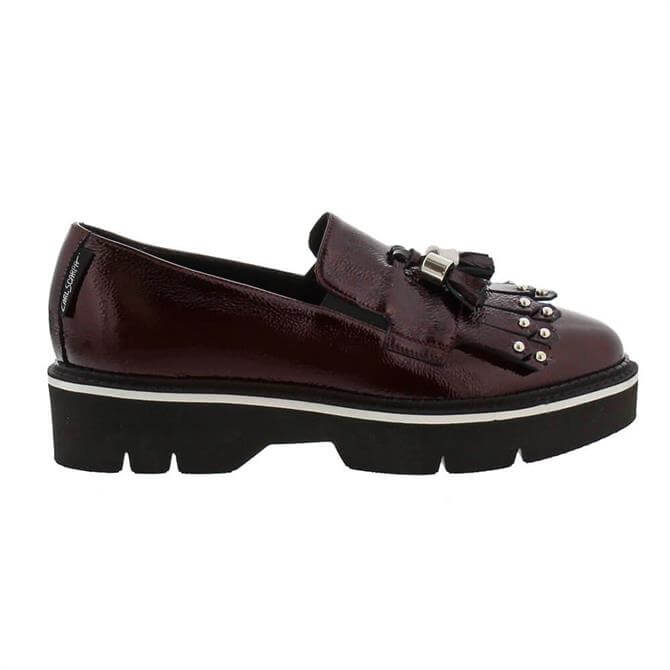 Carl Scarpa Neroli Burgundy Patent Leather Loafers
