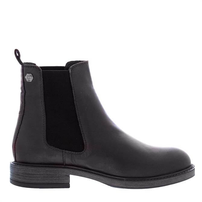 Carl Scarpa Quinn Black Leather Chelsea Boots