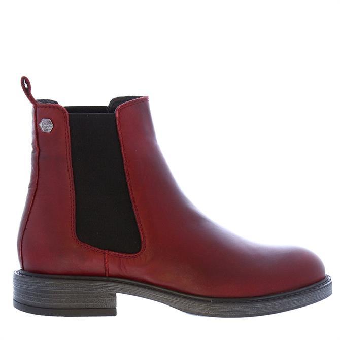 Carl Scarpa Quinn Burgundy Leather Chelsea Boots