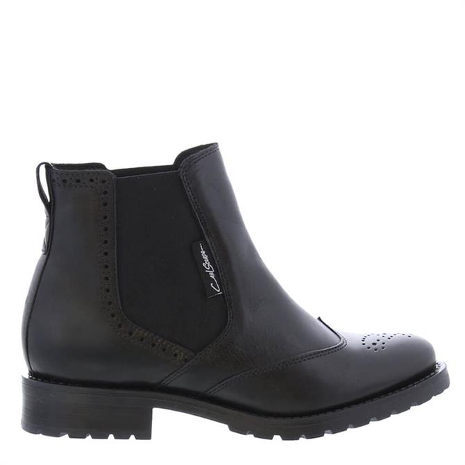 Carl Scarpa Ravenna Black Leather Chelsea Boots