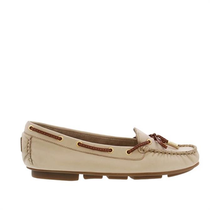 Carl Scarpa Rochele Beige Leather Loafers