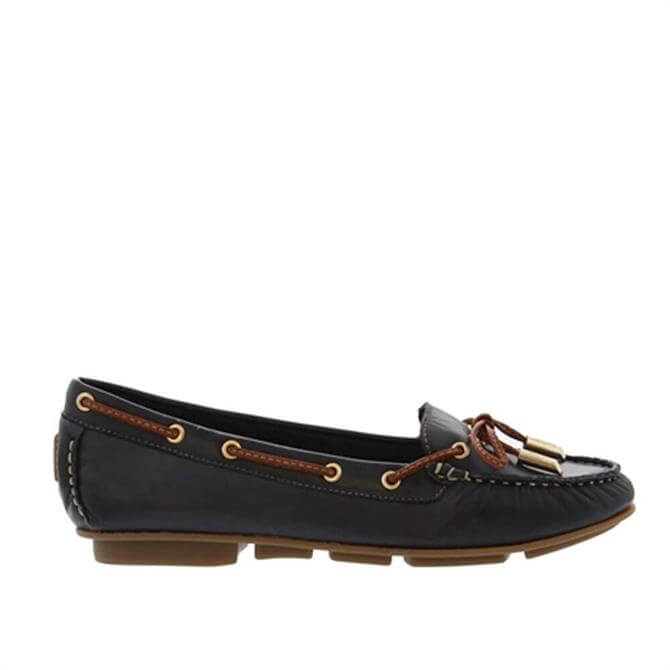 Carl Scarpa Rochele Navy Leather Loafers