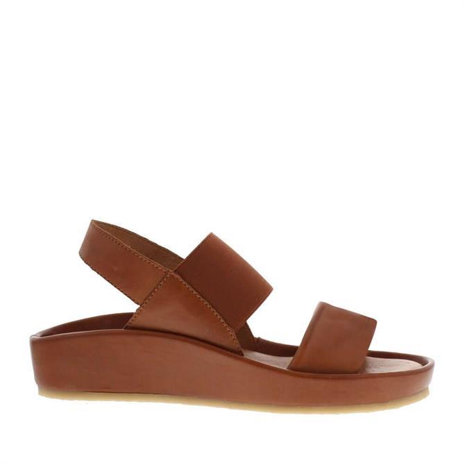Carl Scarpa Sheila Brown Leather Sandals