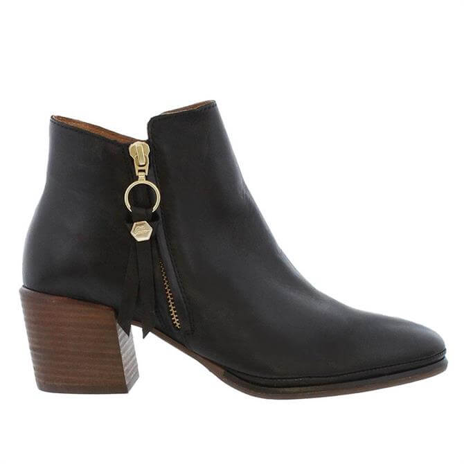 Carl Scarpa Sunni Black Leather Heeled Ankle Boots