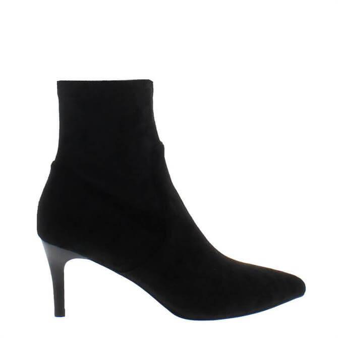 Carl Scarpa Tunella Black Faux Suede Sock Boots
