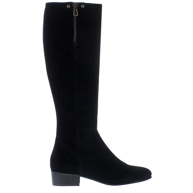 Carl Scarpa Valinda Black Suede Knee-High Boots