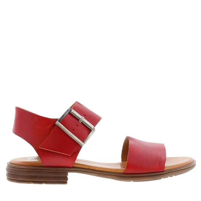 Carl Scarpa Venice Red Leather Sandals