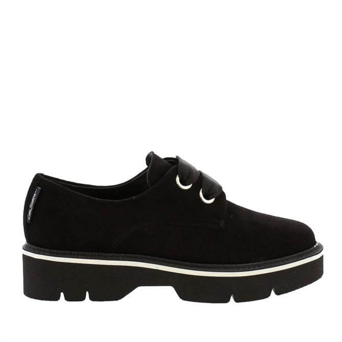 Carl Scarpa House Collection Nevada Black Suede Lace Up Shoes