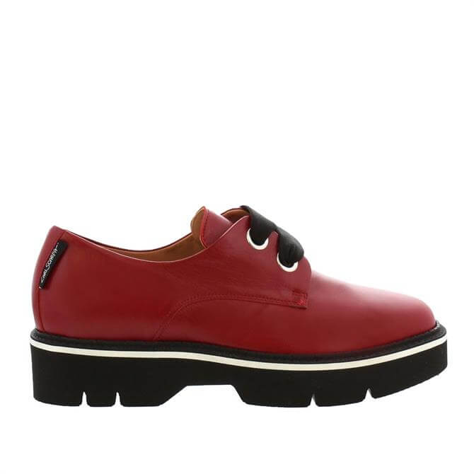 Carl Scarpa House Collection Nevada Red Leather Lace Up Shoes