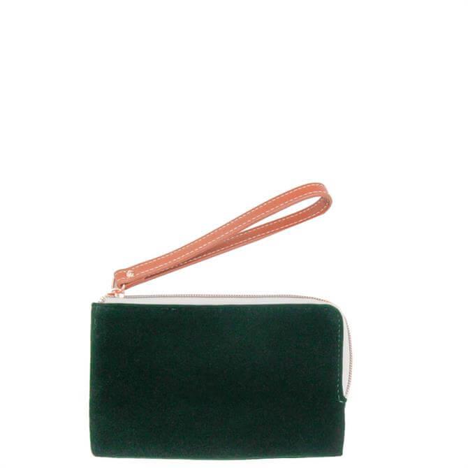 Caroline Gardner Green Velvet Wristlet Purse