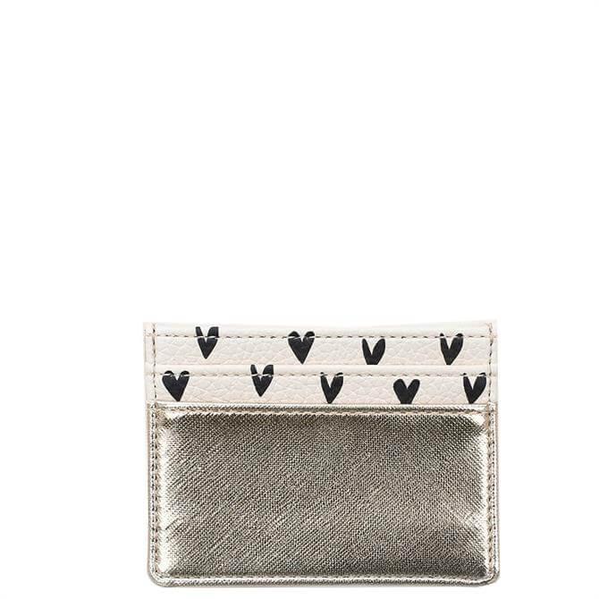 Caroline Gardner Gold/Hearts Travel Card Holder